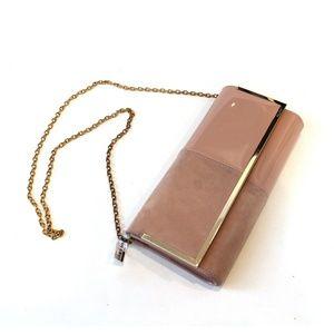 NEW ALDO Blush Pink Clutch Chain Handle Handbag